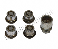 GENUINE FORD FIESTA FUSION MONDEO FOCUS ALLOY WHEEL LOCKING NUT SET x 4 WITH KEY